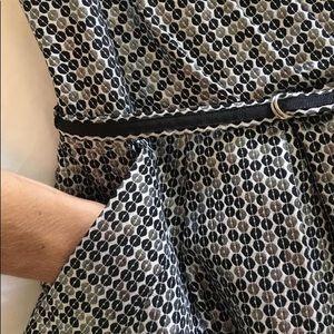 Alexia Admor XS Blk, Wht & Silver Strapless Dress